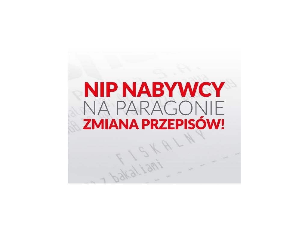 """PRACOWNIA INTERNETOWA """"PINT"""" Nowak Artur - NIP Nabywcy na paragonie - od 1 stycznia 2020"""