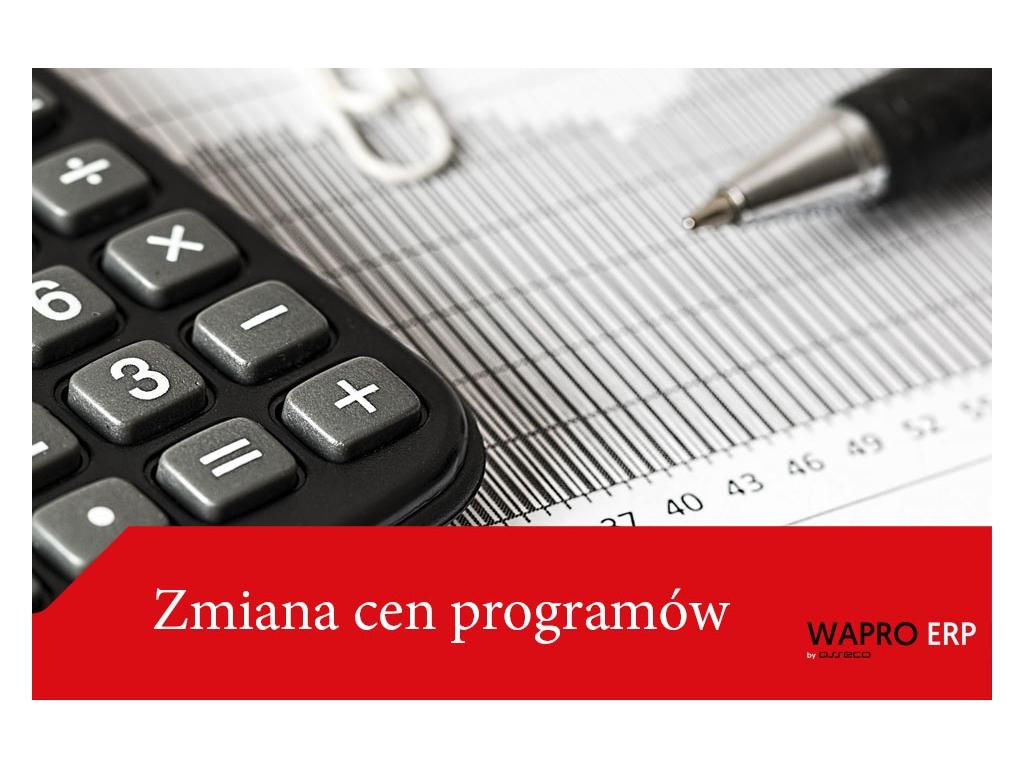 """PRACOWNIA INTERNETOWA """"PINT"""" Nowak Artur - Zmiana cen programów WAPRO"""