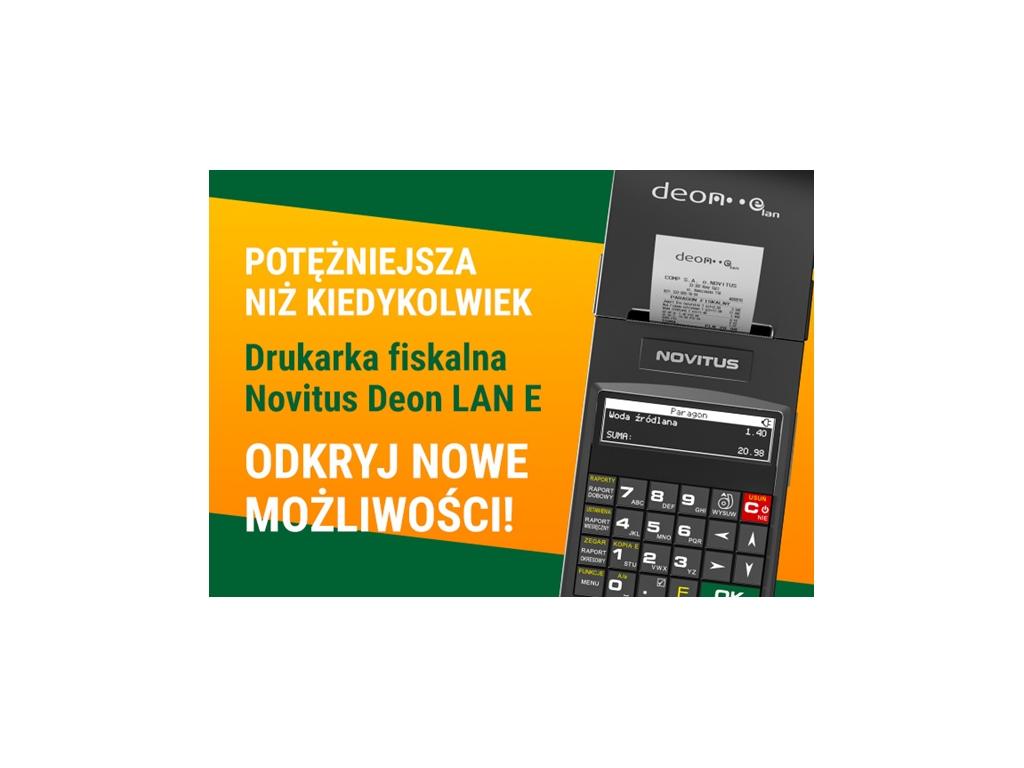 "PRACOWNIA INTERNETOWA ""PINT"" Nowak Artur - Nowa drukarka fiskalna DEON LAN E"