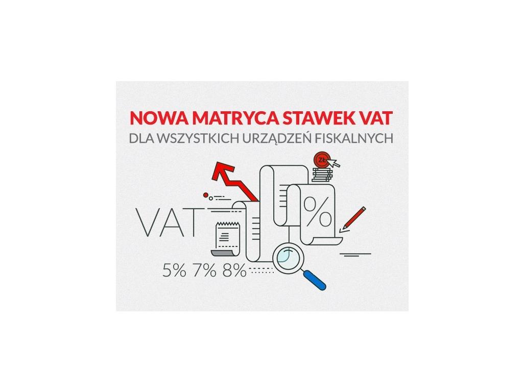 """PRACOWNIA INTERNETOWA """"PINT"""" Nowak Artur - Nowa matryca stawek VAT dla wszystkich urządzeń fiskalnych"""