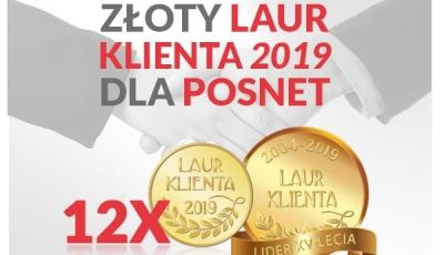 """PRACOWNIA INTERNETOWA """"PINT"""" Nowak Artur - Złoty Laur Klienta dla POSNET"""