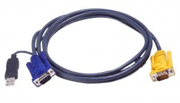 ATEN 2L-5202UP Kabel HD15 - SVGA + mysz + klawUSB 2.0m