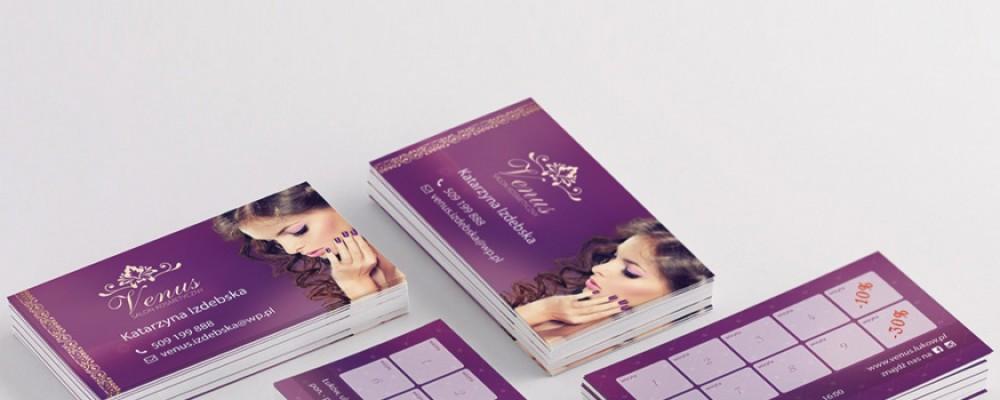 Projekty poligraficzne Wizytówki dla kosmetyczki