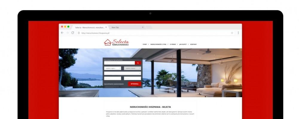 Strony WWW Wyszukiwarka nieruchomości w Hiszpanii